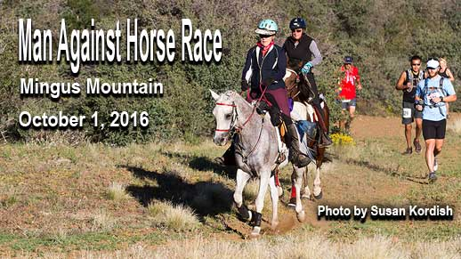 Man Against Horse Race October 1 on Mingus Mountain