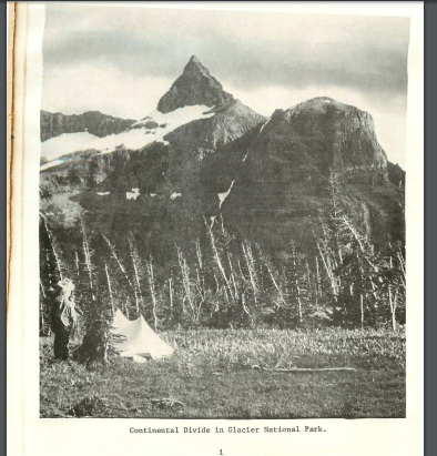 Historic photo of the Continental Divide in Glacier