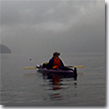 Tyra sea kayaking at Misty Fiords National Monument.