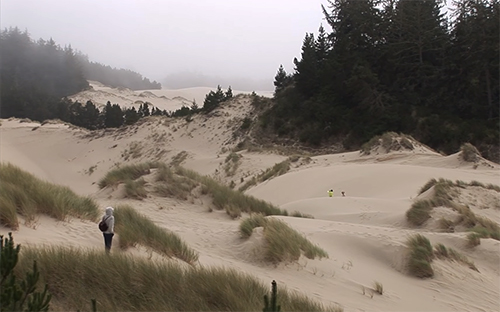 Hiking in the Oregon Dunes Day Use Area