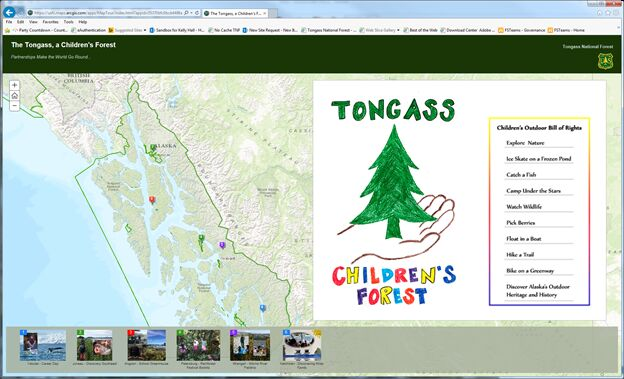 Tongass Children Forest Interactive Map Logo