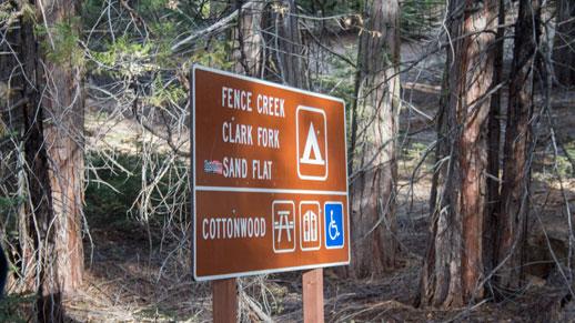 Clark Fork Campground Sign