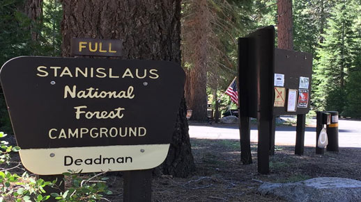 Deadman Campground Entrance Sign