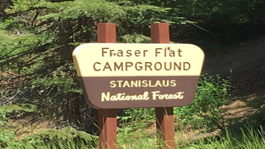 Fraser Flat Campground Sign