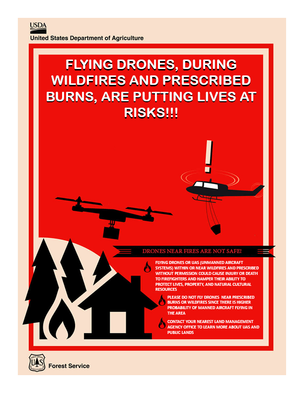 Drones and Wildfire Safety