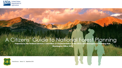 Cover page for Citizens' Guide to National Forest Planning