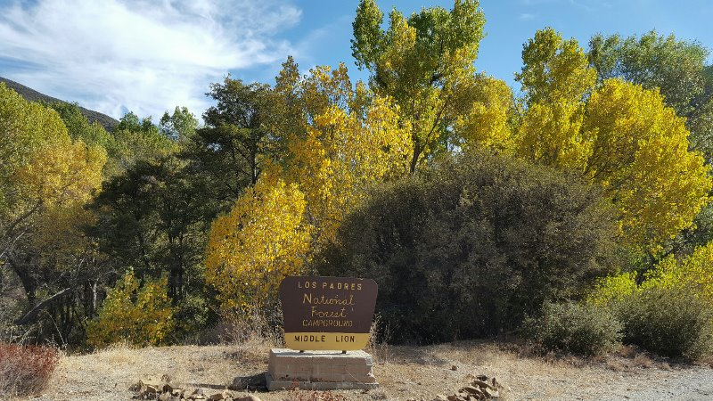 Los Padres National Forest - Middle Lion Campground