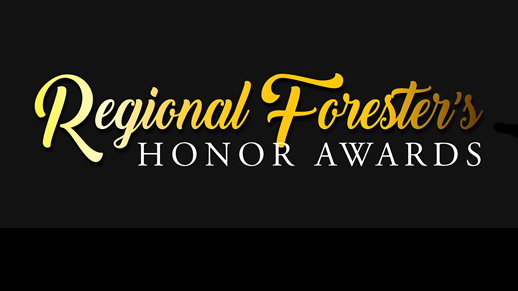 Sign that reads Regional Forester's Honor Awards.