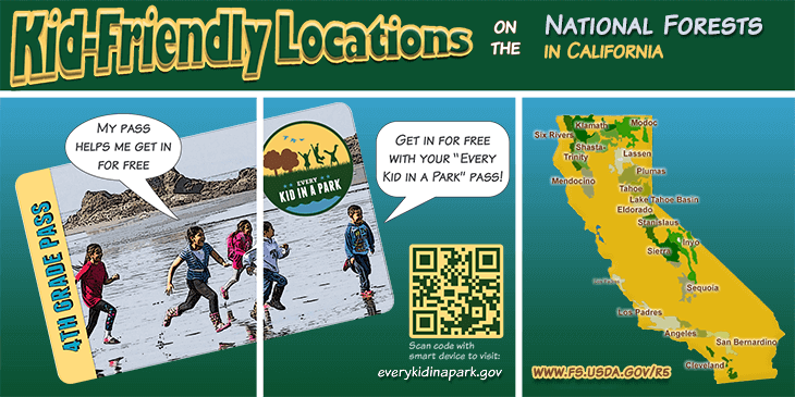 Kid-Friendly Locations on the National Forests in California