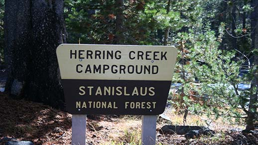 Herring Creek Campground Sign