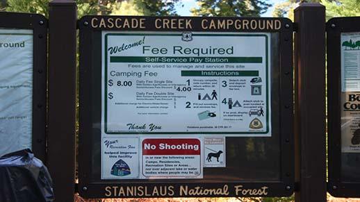 Cascade Creek Campground Sign