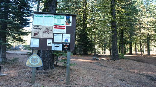Mill Creek Campground Information Board