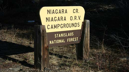Niagara Creek Campground Sign