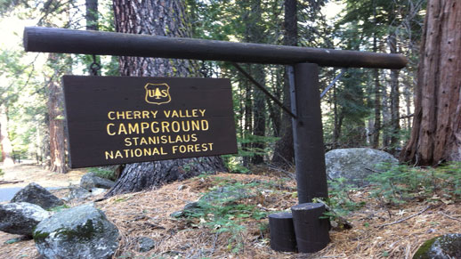 Cherry Valley Campground Sign