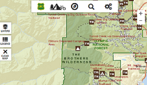 Thumbnail: Select to go to the Forest Service National Interactive Map
