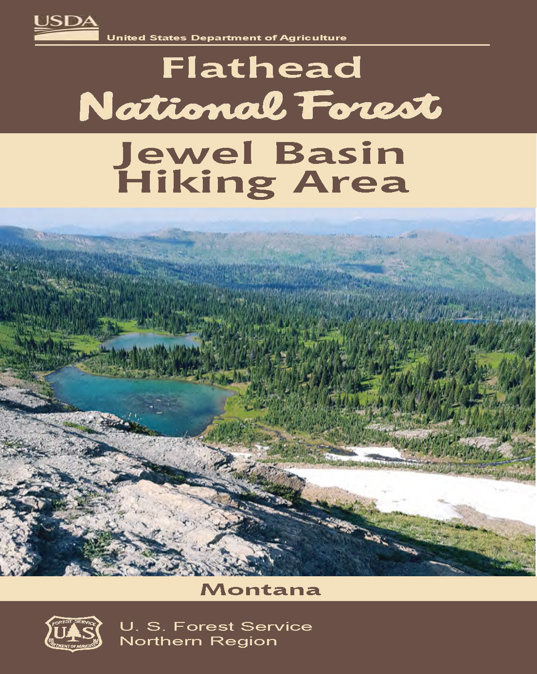 Cover  for the Jewel Basin Hiking Area Map