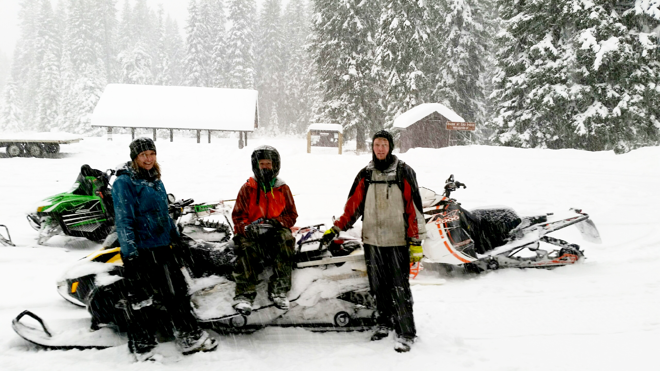 Recreation and Timber employees grooming Fish Creek Nordic Ski Trail