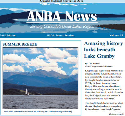 Graphic: Arapaho National Rec Area newsletter image