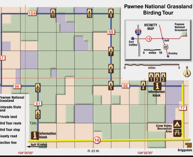 Thumbnail: Pawnee Birding Tour map