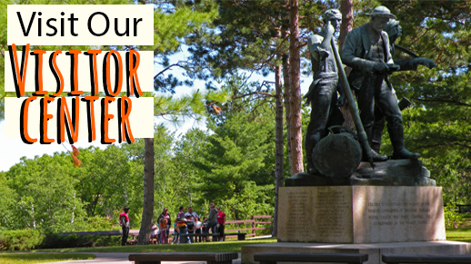Visit Lumberman's Monument Visitor Center, open May to October!