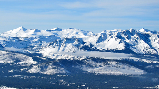 The Crystal Range sits behind Mt. Tallac.