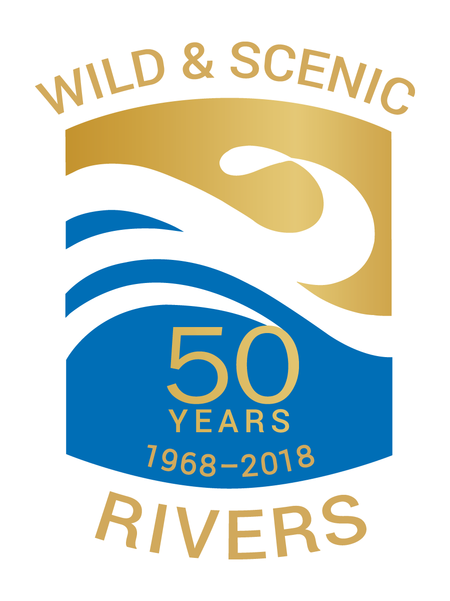 Wild & Scenic Rivers Act 50th Anniversary Logo, transparent