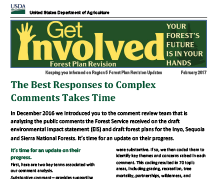 Get Involved - Forest Plan Revision Newsletters