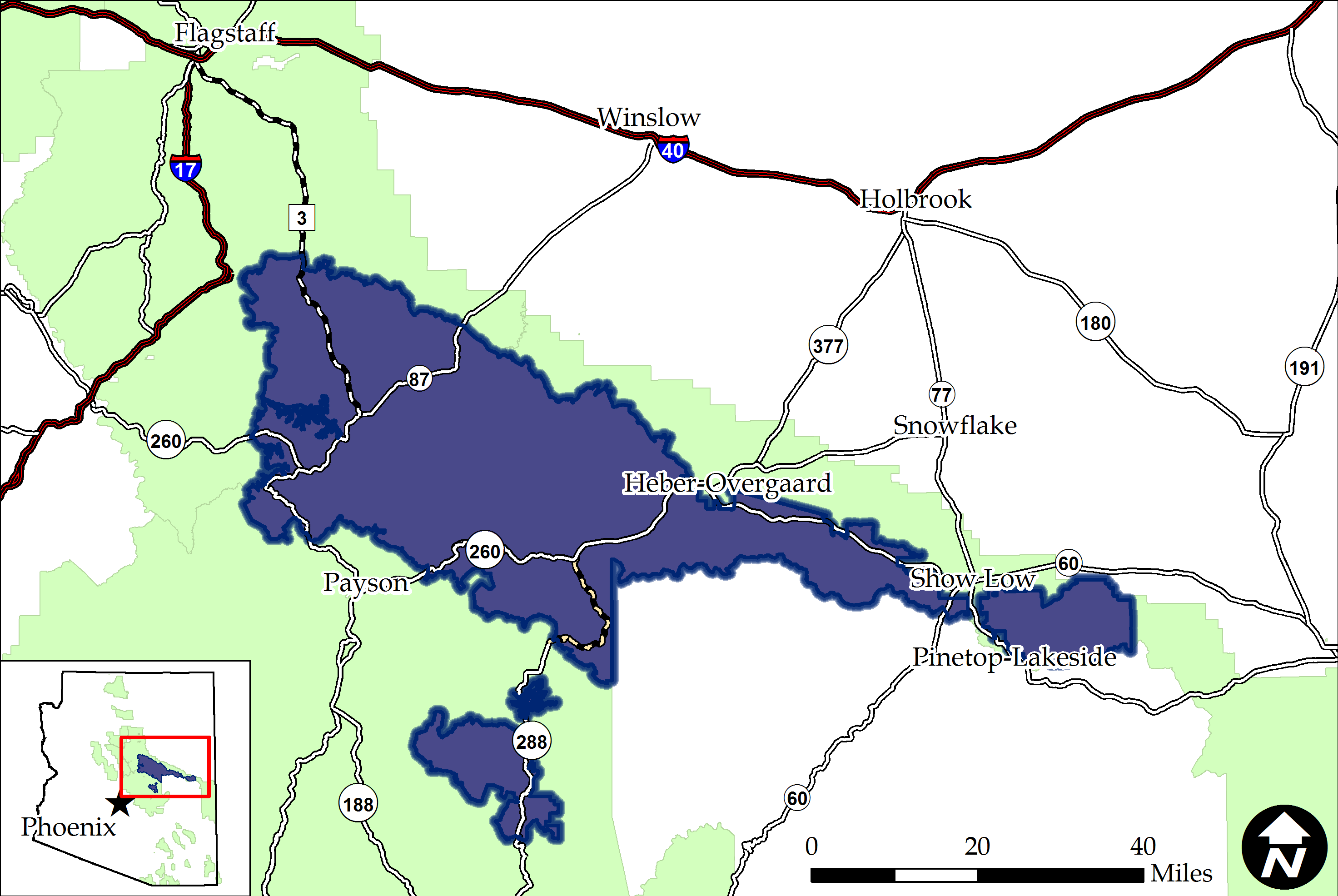 Rim Country Project area map