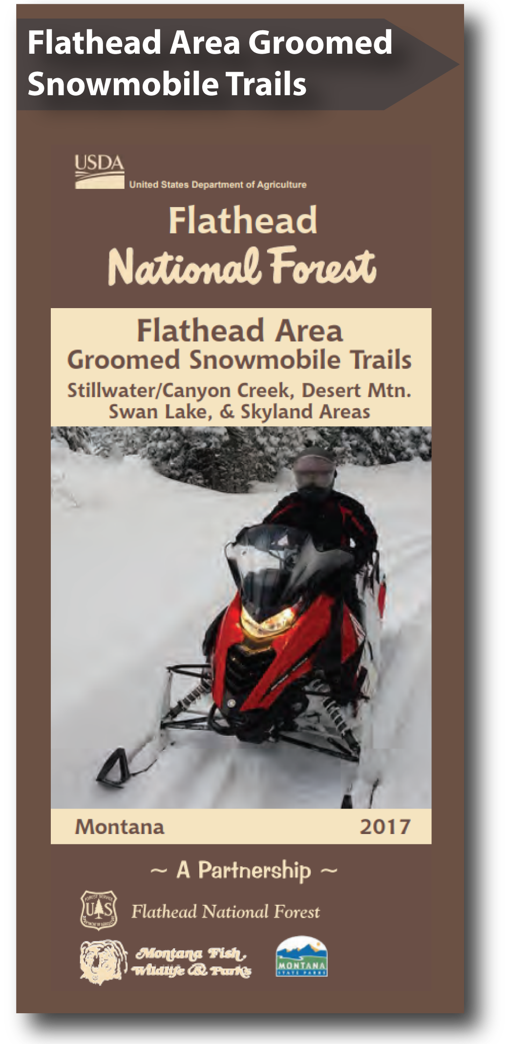 Cover of the 2017 Flathead Area Snowmobile Map