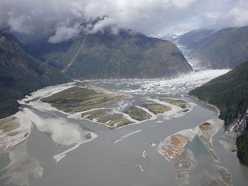 The Baird Glacier Is Located About 20 Miles Northeast Of Petersburg Alaska It Has A Large Glacial Outwash Plain And Terminal Moraine In Front Ice