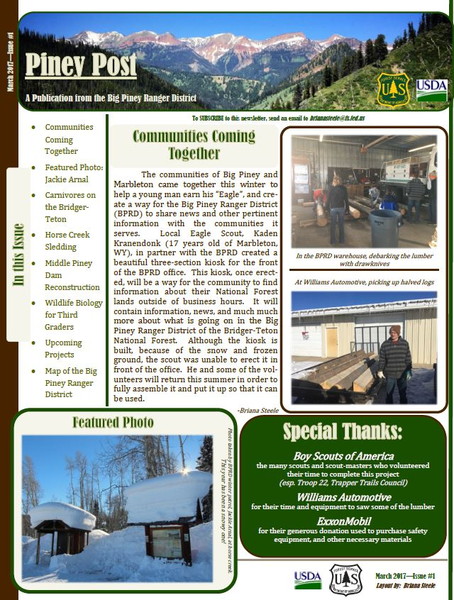 Thumbnail image of the Piney Post newsletter header
