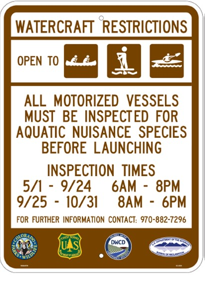 McPhee Boat Inspection Sign