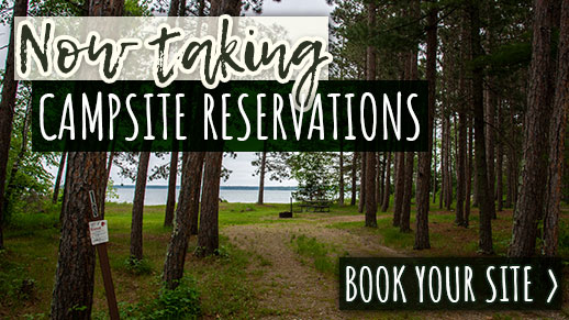Camping site reservations now available.
