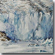 Watercolor of a glacier in the Tracy Arm-Fords Terror on the Tongass National Forest.