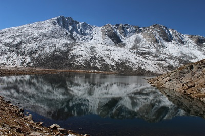 Summit Lake Reflection of Mt Evens, ARP Natiopnal Forest