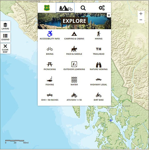 Tongass Interactive Visitor Map