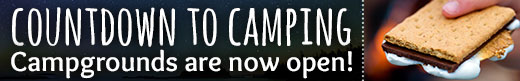 Countdown to the opening of camping. Less than 4 weeks to go!