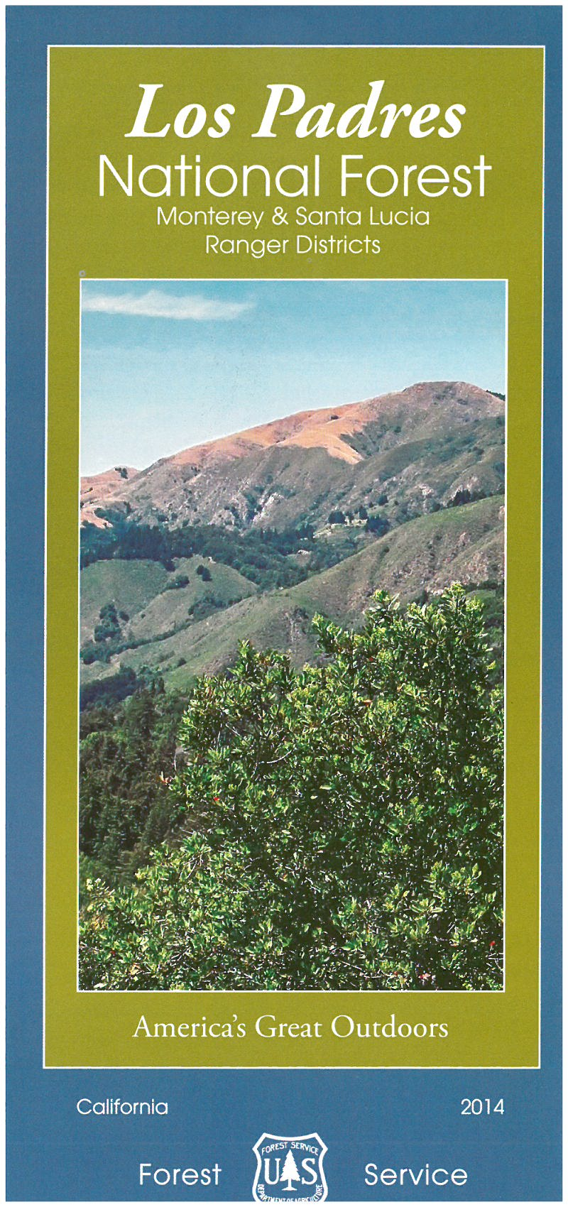 Los Padres National Forest Maps  Publications - Map of us national forest