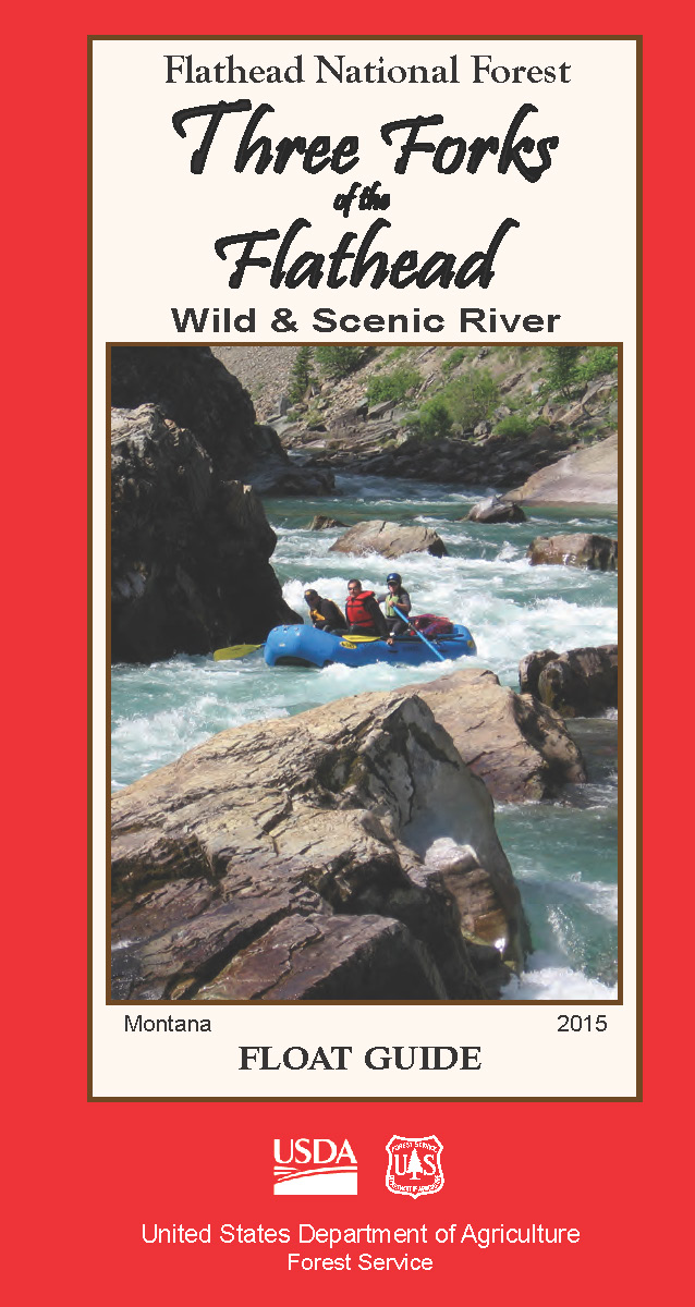 Picture of the cover of the float guide for the Three Forks of the Flathead River