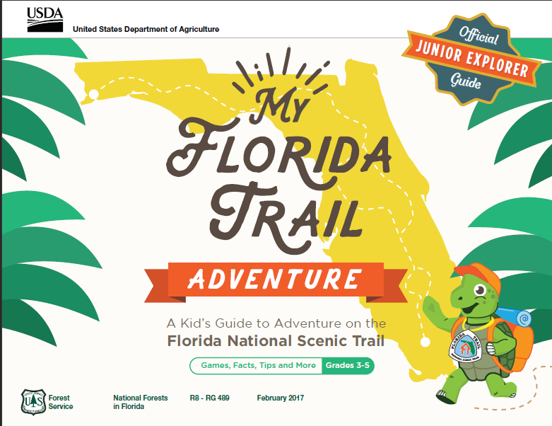 Cover Page of the My Florida Trail Adventure Junior Explorer Activity Book