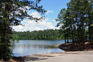 Indian Mounds boat ramp on the Sabine National Forest.