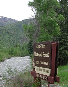 Erickson Springs Campground Sign