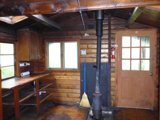 Manzanita Lake Cabin Interior View Stove
