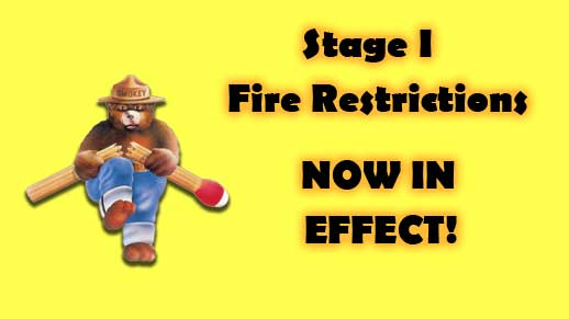 Stage 1 Fire Restrictions now in effect on the Prescott National Forest
