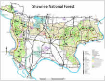 Harrisburg Illinois Map.Shawnee National Forest Maps Publications