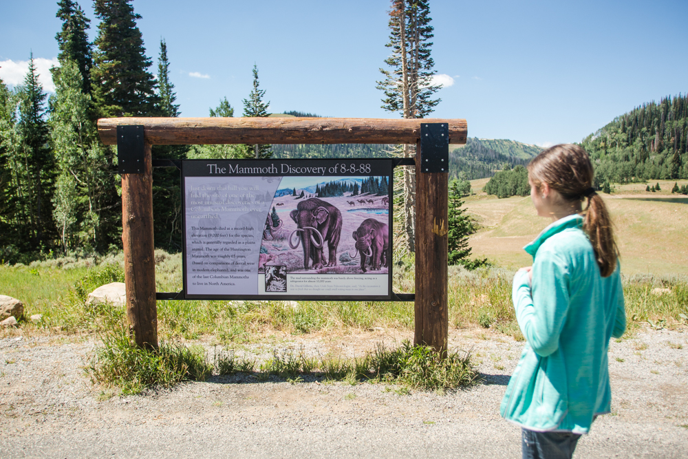Girl looking at Mammoth