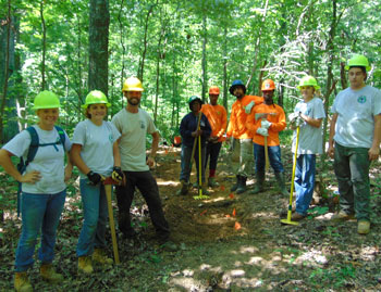 Group photo of the Greencorps YCC group