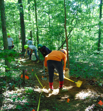 Greencorps-and-Cache River-YCC, Panther Den trail work