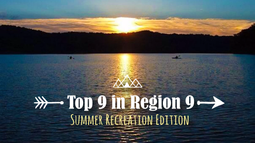 Top 9 recreation sites in region 9 - summer edition