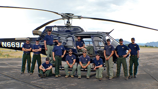 A-star Helitack Crew pose on tarmac in 2017.